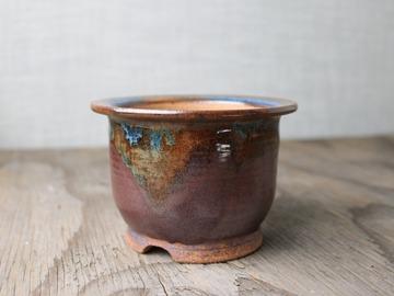 Selling: bonsai pot in temmoku glaze