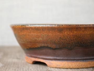 Selling: bonsai pot in light temmoku glaze