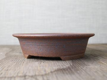 Selling: bonsai pot, unglazed with iron oxide stain