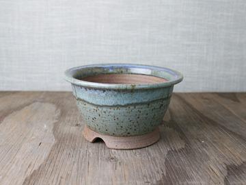 Selling: bonsai pot, cascade in green and light blue glazes